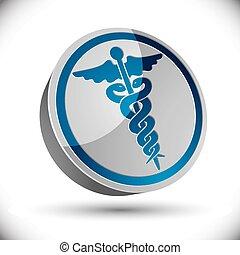 caduceus, medisch, symbool.