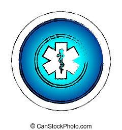 caduceus, símbolo médico, ícone