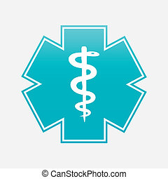 caduceus, símbolo médico, vetorial, illustration.