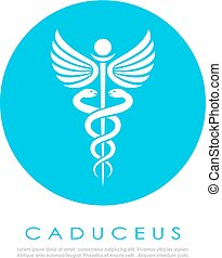 Caduceus snake medical logo design