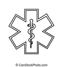 caduceus symbol isolated icon