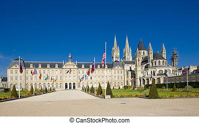 Caen, Normandy, France - church of Saint Etienne, Abbaye Aux...