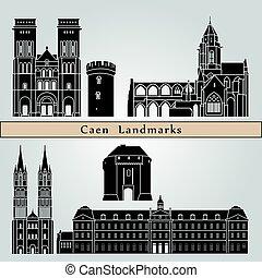 caen, punkty orientacyjny, i, pomniki