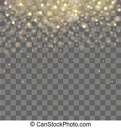caer, de, luces, en, transparente, plano de fondo