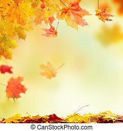 caer, otoño sale, con, libre, espacio, para, texto