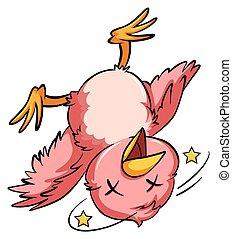 caer, pájaro