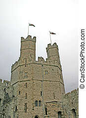 Caernarfon Castle in North Wales