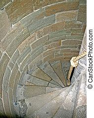 Caernarfon Castle Spiral Staircase in North Wales