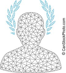 Caesar Polygonal Frame Vector Mesh Illustration - Mesh...