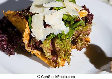 Caesar salad at the restaurant