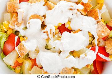 Caesar salad closeup