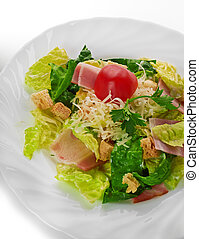Caesar Salad isolated on a white background