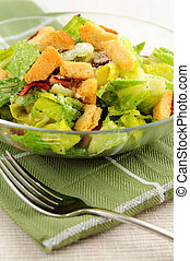 Caesar salad - Fresh caesar salad with croutons and bacon...