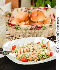 Caesar salad with chicken 1