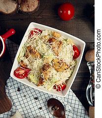 Caesar salad with grilled chicken 1
