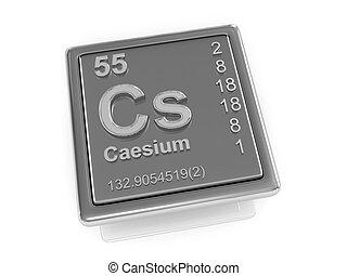 Caesium. Chemical element.