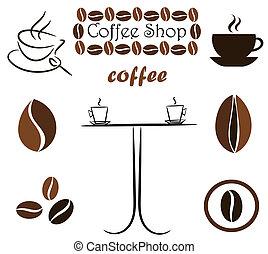 café, éléments