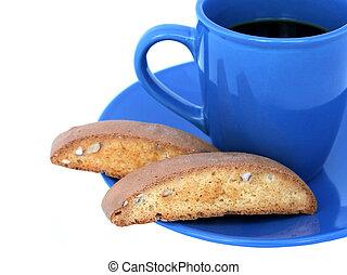 café, 2, biscotti, y