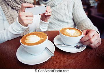 café, amants