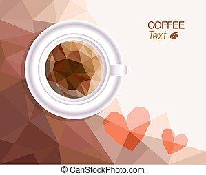 café, amor, plano de fondo