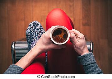 café, apprécier, tasse