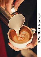café, art, latte