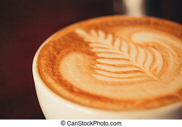café, arte, latte