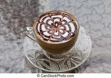 café, arte, /, latte