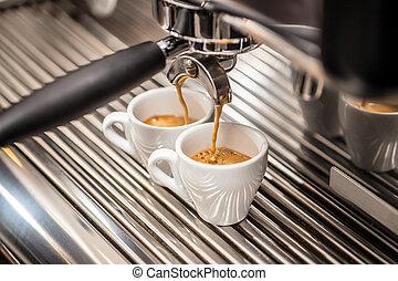 café, automático, fabricante