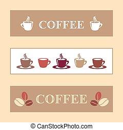 café, bandeiras