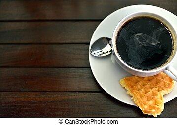 café, barquillo
