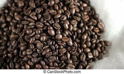 café, beans., tas
