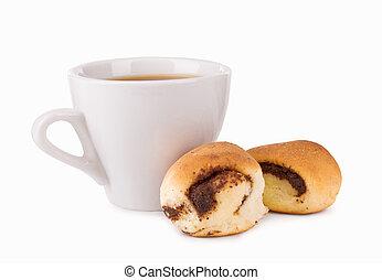 café, biscuits, tasse