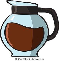 café, blanc, arrière-plan., vecteur, illustration