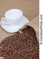 café blanc, grande tasse