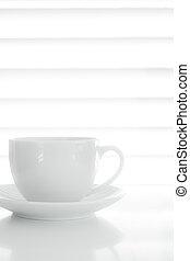 café blanc, tasse, fond nourriture