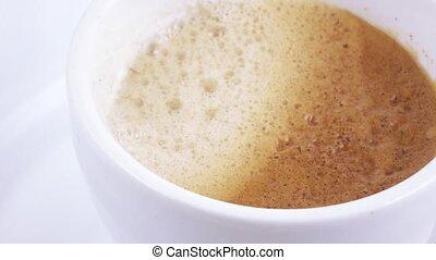 café blanc, tasse