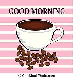 café, bom dia