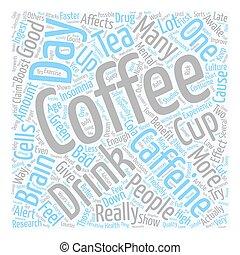 café, bueno, texto, wordcloud, malo, concepto, plano de ...