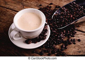 café, cappuccino, -, mil, italiano