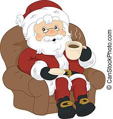café, claus, santa