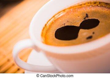 café, closeup