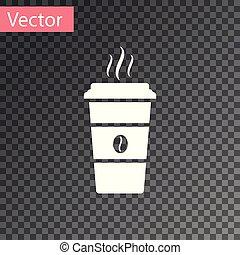 café, coffee., tasse, jetable, isolé, illustration, arrière-plan., chaud, vecteur, blanc, transparent, icône