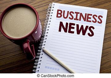 café, concept, business, pen., bois, texte, projection, moderne, bloc-notes, écriture, note, sous-titre, écrit, papier, fond, nouvelles ligne, main, news., livre, inspiration