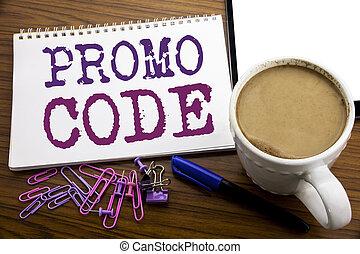 café, concept, business, sous-titre, promo, texte, projection, écrit, écriture, note, bois, stylo, papier, fond, ligne, promotion, main, code., inspiration