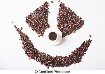 café, concept, dépendance