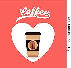 café, conception, délicieux