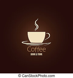 café, conception, fond, tasse