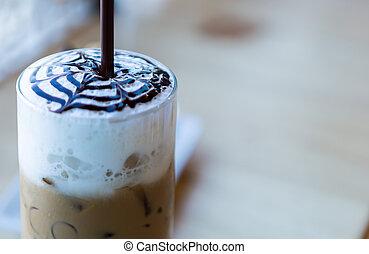 café, crema batida