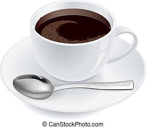 café, cuillère